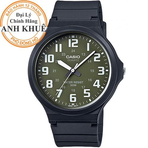 Đồng hồ nam dây nhựa Casio chính hãng Anh Khuê MW-240-3BVDF
