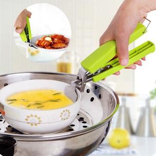Kẹp gắp chống nóng bát đĩa đồ ăn nồi xoong inox lò xo