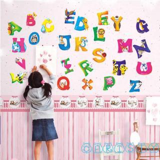 ✦♛✦A-Z Alphabet&Animals Wall Sticker Mural PVC Decals Kids Baby Nursery Decor