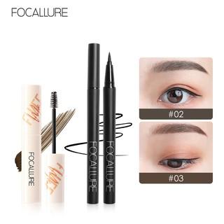 Set bút kẻ mắt + gel kẻ chân mày Focallure chống thấm nước lâu trôi trang điểm tiện dụng 33.4g