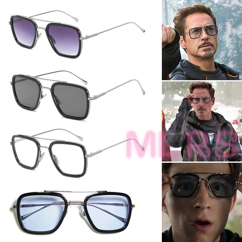 MS Sunglasses Peter Parker Spiderman Iron-Man Movie Glasses for Men &TH