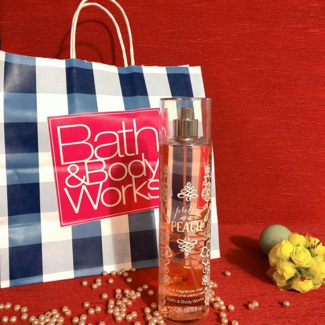 Xịt toàn thân Bath and Body Works Pretty as a Peach Body Mist _ 236ml