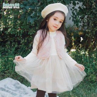 Set váy Bebezoo kèm áo gile phong cách Hàn Quốc