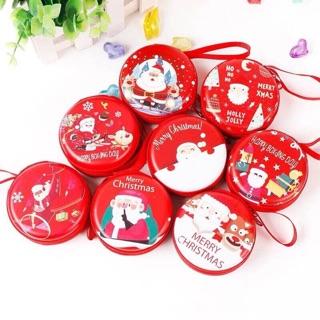 Quà Noel: Ví nhỏ Noel 2 mặt kim loại bền đẹp xinh yêu cho bé (có sỉ)