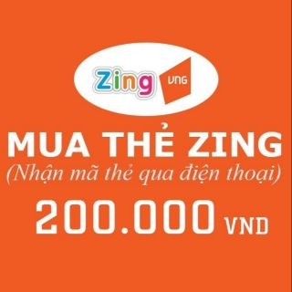 THẺ GAME ZING 200.000