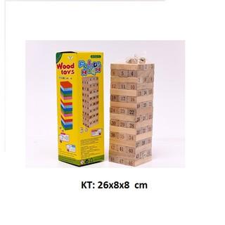 Bộ đồ chơi rút gỗ 48 thanh (có xúc xắc)