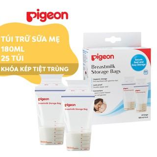 Túi trữ sữa mẹ Pigeon 180ml (25 túi hộp)