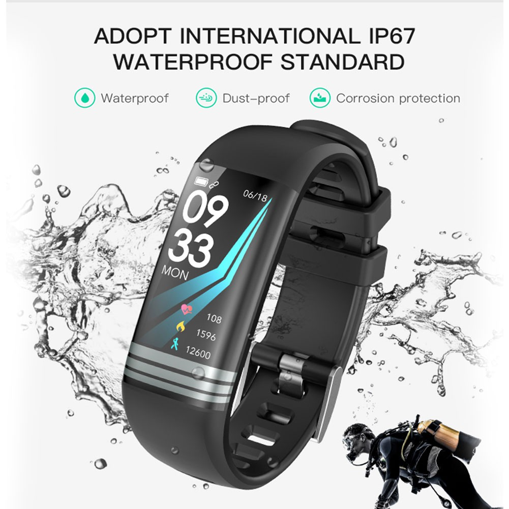 G26S Color Screen Smart Hand Ring Blood Pressure Heart Rate Health Monitoring Bluetooth Motion-s DAX