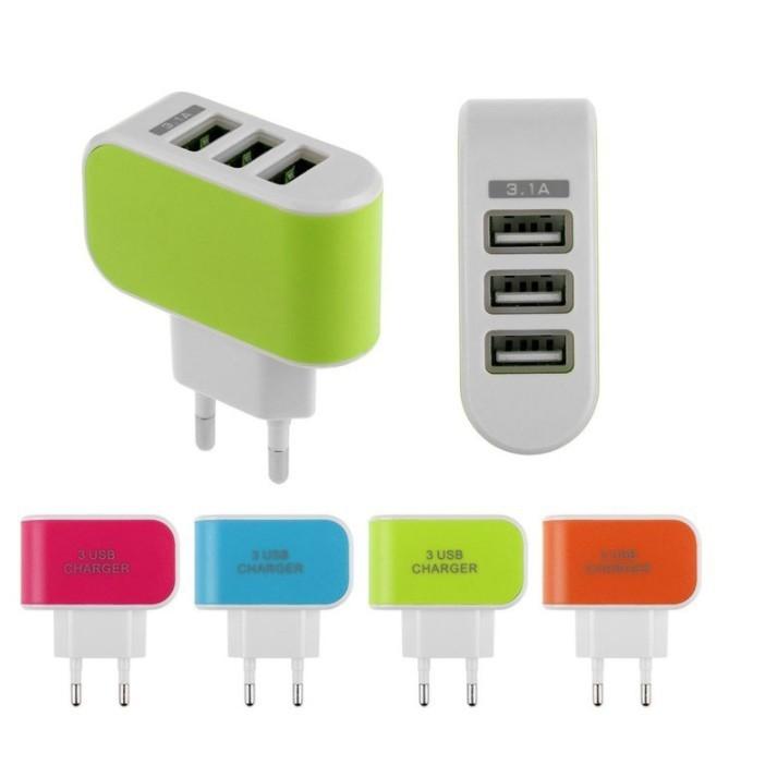 Cốc sạc 3 USB (Củ sạc 3 USB), 3 cổng USB, 1A-2A