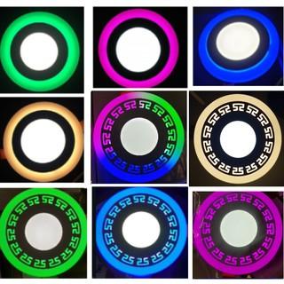 Đèn âm trần 3w viền 3w lòng [Bảo hành 1 năm] đèn viền màu hoa Văn 3 chế độ
