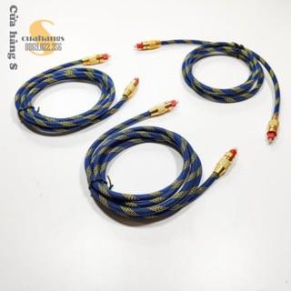 Cáp quang âm thanh bọc sợi đầu kim loại - chất lượng cao nhiều màu