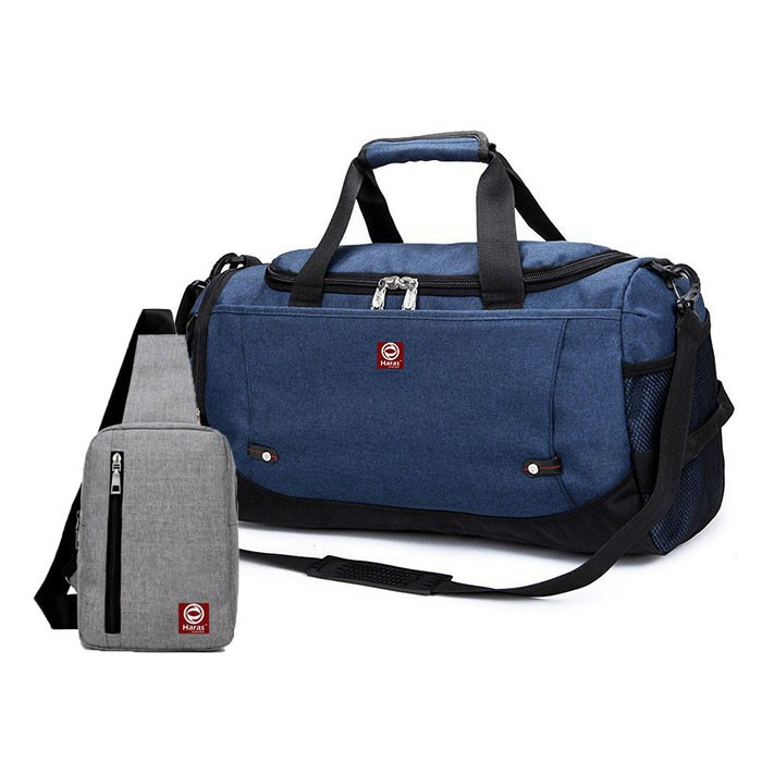 Túi Xách Du Lịch Thời Trang - Combo túi du lịch thời trang HR224 Và túi đeo chéo cá tính HARAS HR147