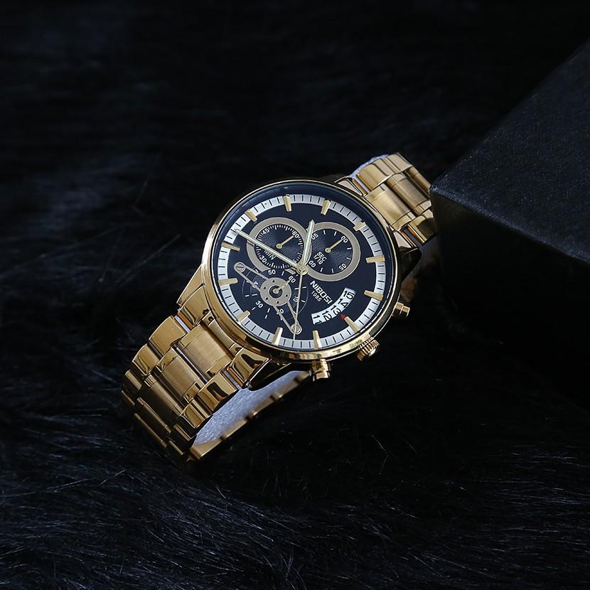 [Tặng vòng tay]Đồng hồ nam NIBOSI chính hãng NI2309-1.09 dây thép đúc đặc 6 kim