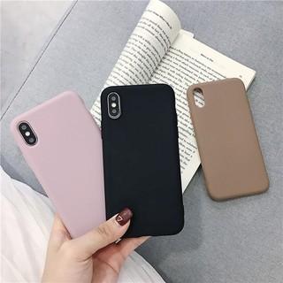 Ốp điện thoại TPU mềm màu trơn cho iphone 6 6s 7 8 plus X Xs MAX XR 12 min thumbnail