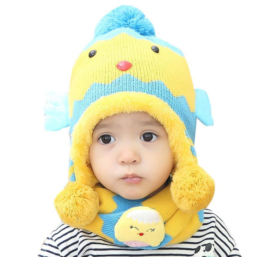 Bộ mũ len khăn ống con gà c