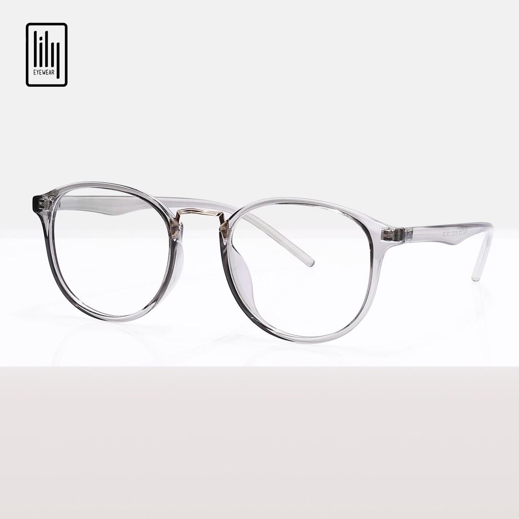 Gọng kính tròn chất liệu nhựa dẻo phụ kiện thời trang nữ Lilyeyewear 209 nhiều màu