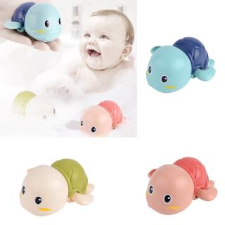 Clockwork Power Hot Summer Swimming Play Turtle Children Cool And Comfortable Bath Toy Dropship Bath Swimming Turtle Toy for Baby Toddler Wind Up Chain Bathing Water Toy