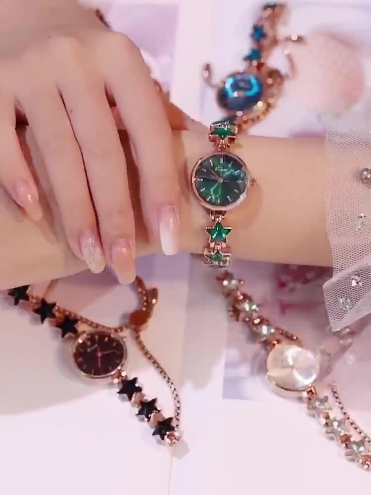 Đồng hồ nữ Kimio 6352 dây đính đá siêu xịn