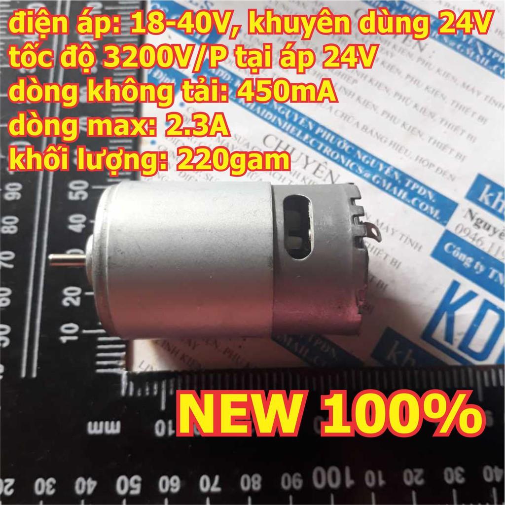 [CỰC RẺ] động cơ DC RS-555 18-40V 24V 3200V/P 180gf.cm 220g trục 3.17mm kde2613 CỰC RẺ