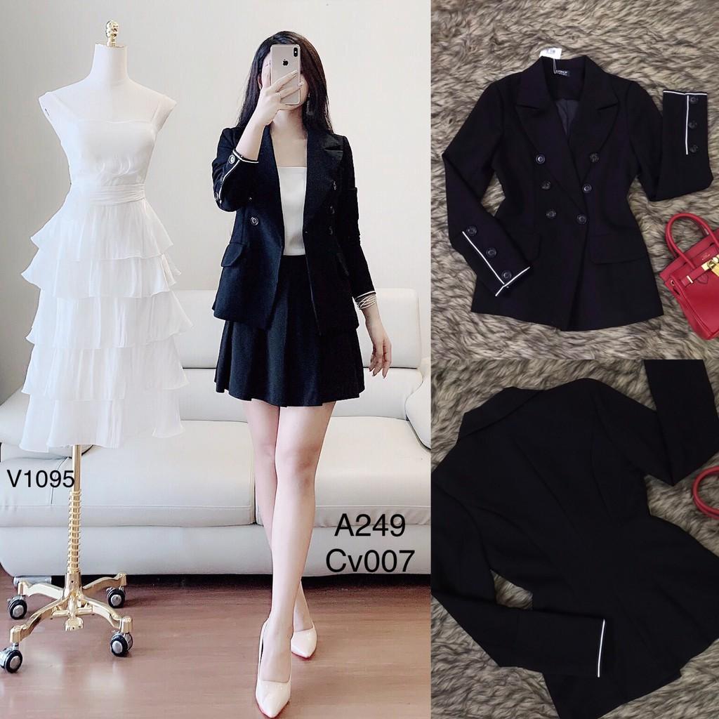 Áo vest đen A249 - Đẹp Shop DVC (Kèm ảnh thật trải sàn do shop tự chụp)( Lưu ý: mẫu chỉ riêng áo)