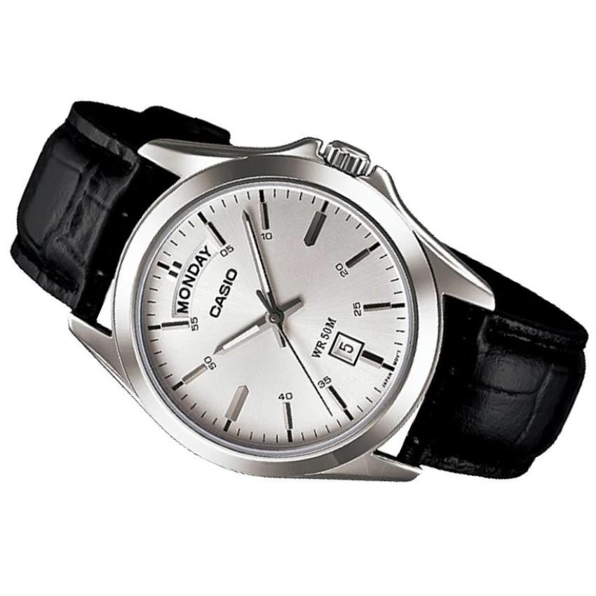 Đồng hồ nam dây da Casio chính hãng Anh Khuê MTP-1370L-7AVDF