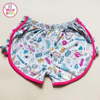 Quần bé gái quần đùi cotton cho bé gái từ 12-30kg lượn đùi hồng nơ 2 bên siêu mát - Ảnh thật Misolkids by huong274