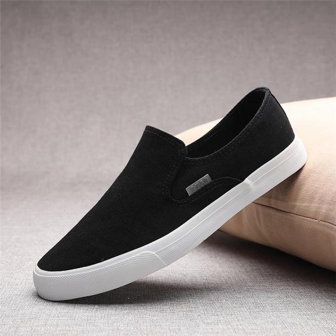 Slip on nam - Giày lười vải nam cao cấp thương hiệu 3768 - Vải thô 4 màu (đen), (khaki), (Xanh), (Đỏ) - Mã SP 616