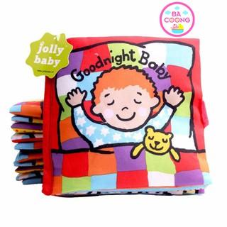 [Nhập TOYAPR10 giảm 10K]Sách vải Jolly Baby Goodnight chủ đề lật mở giúp bé nhận diện màu sắc