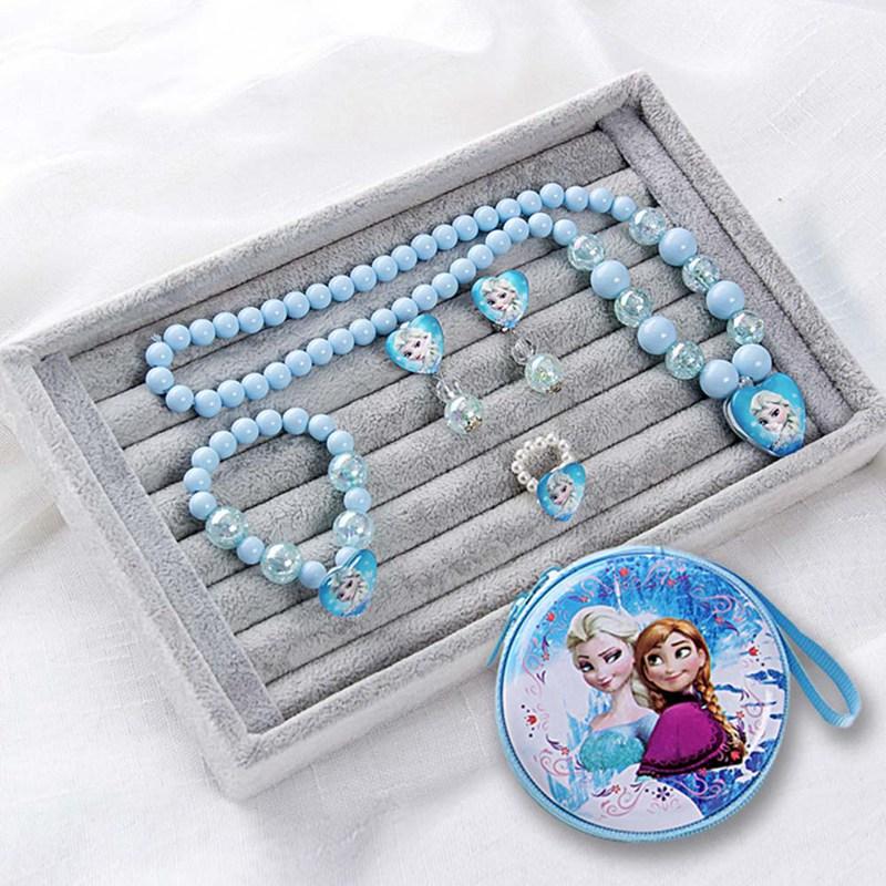 Bộ phụ kiện trang sức phong cách công chúa Frozen cho bé gái