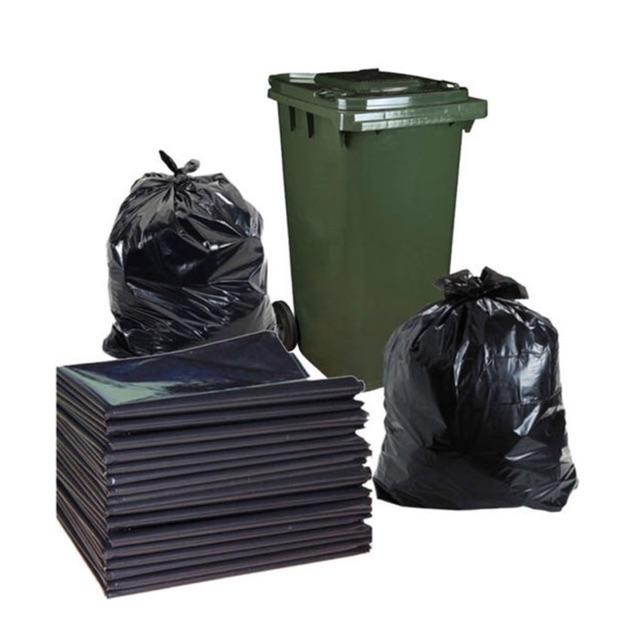 1KG Túi ni lông rác đen không quai đen loại đầy đủ các kích cỡ 60x1m,80x1m2,90x1m1, 90x1m4