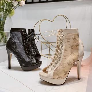 Giày Sandal 10P 💥LOGO CHANE💥 Giày Boos Lưới Ren - Quảng Châu