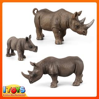 3 con tê giác, mô hình động vật tuyệt đẹp ITOYS