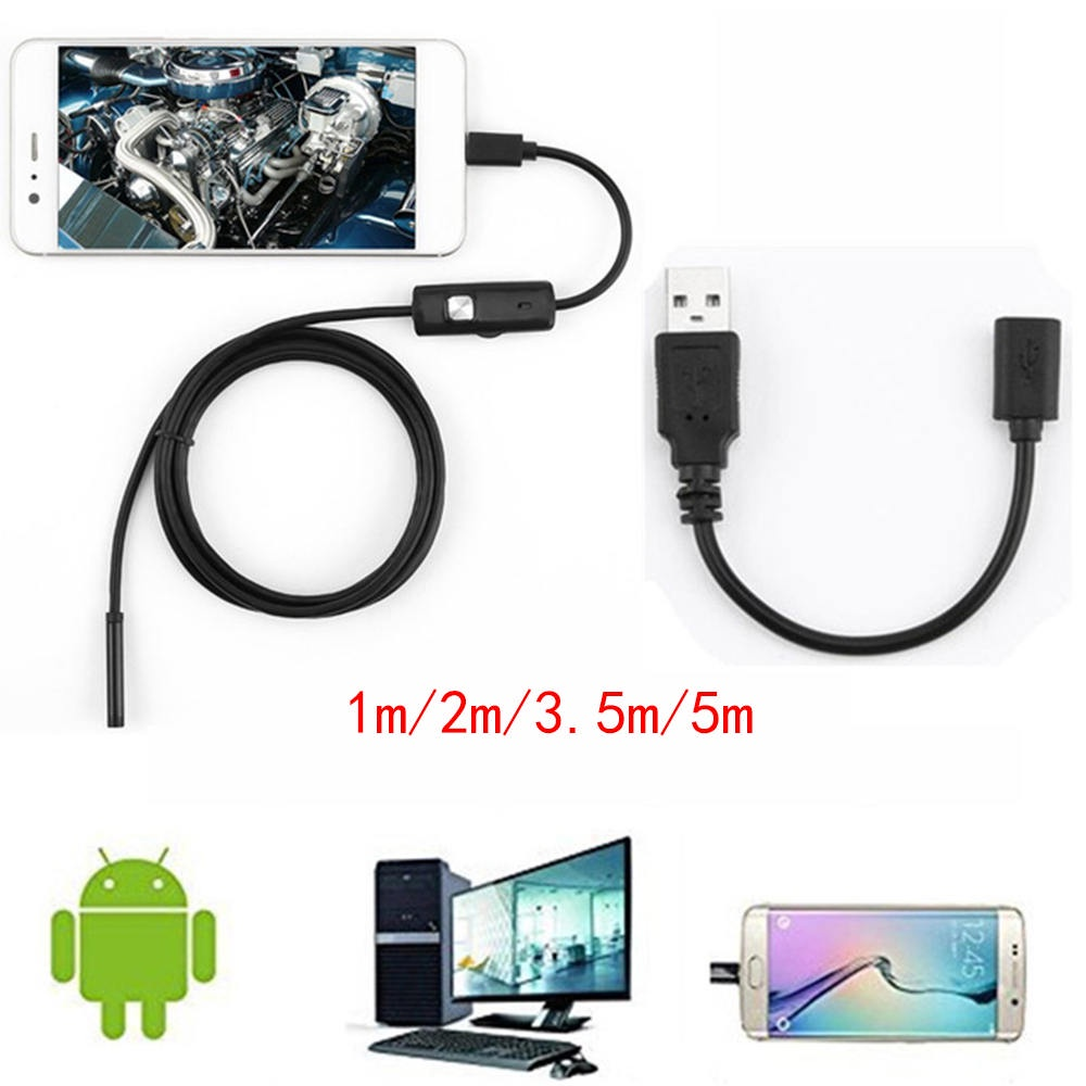 Queen Endoscope Borescope HD Camera Inspection For Android PC Laptop Tablet Waterproof LED,3#