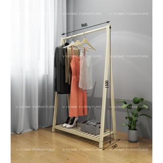 Kệ , giá treo quần áo gỗ chữ A – 1 tầng
