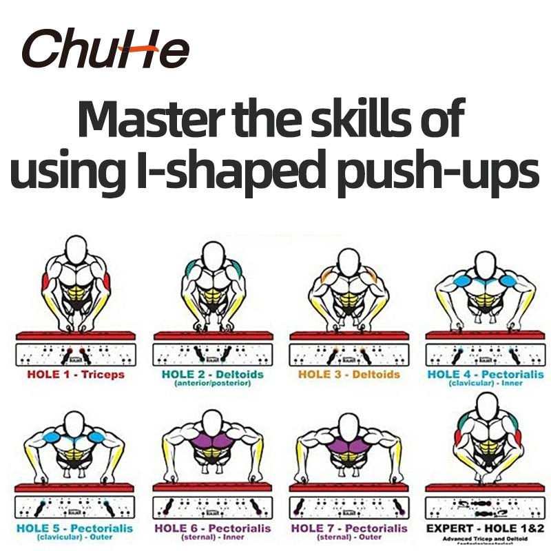 CHUCH 2 CÁI H Loại Push Up Stand Bar Khung Pushup Stand Tập thể dục Tập thể dục Tập thể hình cho cơ bắp Tập thể dục Tay cầm Huấn luyện viên Công cụ
