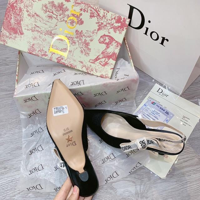 Giày cao gót dior nơ cạnh gót 5cm