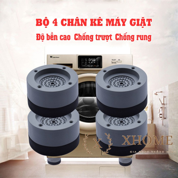 Chân máy giặt 4 miếng cao cao su cao cấp chống ồn chống rung (LOẠI 1)