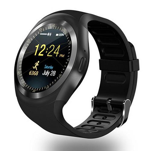 Đồng hồ thông minh SmartWatch Y1 mặt tròn (đen)