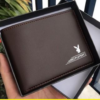 [HÀNG HIỆU] Ví da nam chất đẹp thời trang hàng hiệu Ví nam Playboy cao cấp - Bóp ví da PU nhập khẩu chính hãng sành điệu thumbnail