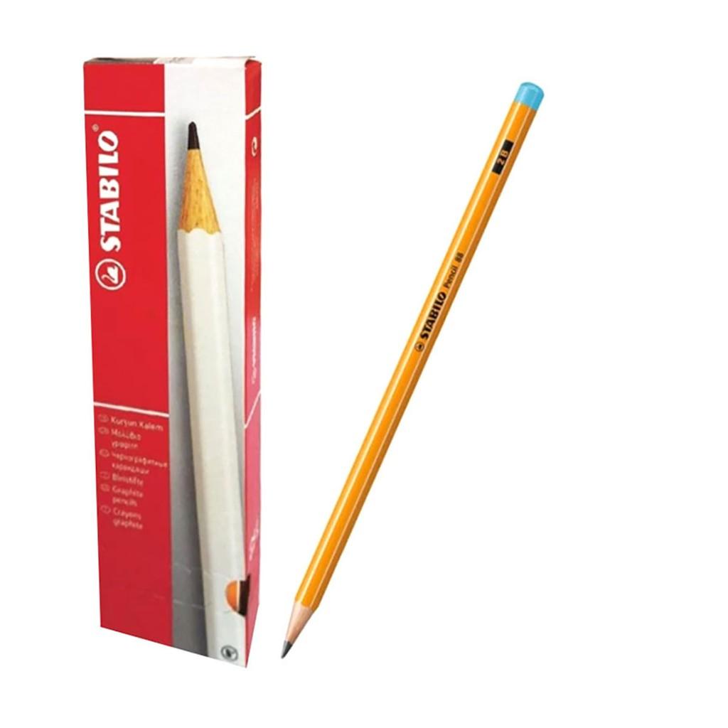 Hộp 12 cây chì gỗ STABILO Pencil 88U-2B (đầu xanh)