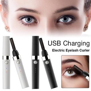 Electric Heated Eyelash Curler Usb Rechargeable Makeup Curling Kit Long Lasting Natural Eye Lash Curler Eye Makeup Tools