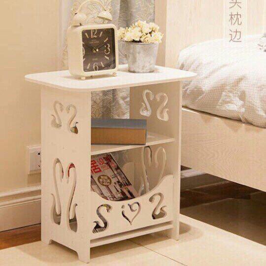 Kệ vuông đầu giường bàn trang điển thiên nga