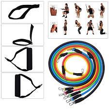 Bộ 05 dây NGŨ SẮC tập gym tại nhà - Bộ dây CAO SU đần hồi kháng lực NGŨ SẮC tập gym tại nhà tiện ích