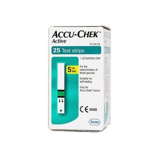 [Chính hãng] Hộp 25 que thử đường huyết Accu-Chek Active, sản xuất Tại Mỹ, có tem niêm yết, nhãn phụ tiếng việt. thumbnail