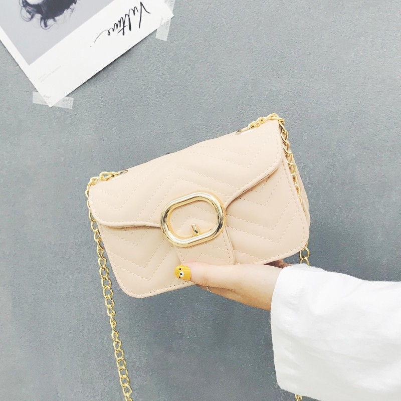 Korean style cross-pocket square bag