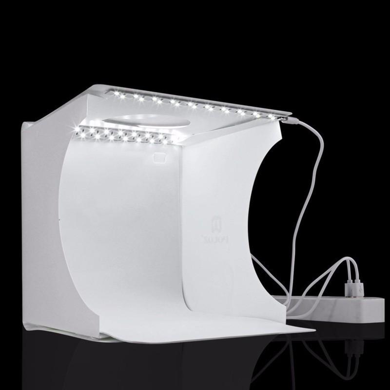 [HÀNG THẬT]  PULUZ Hộp chụp ảnh 2 dàn đèn led tặng kèm 6 tấm nền backgound