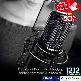 (FREESHIP)TẶNG CÁP IPHONE Mic thu âm chuyên nghiệp cao cấp Takstar PC-K850 hát karaoke, livestream, bán hàng