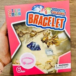 Bộ đồ chơi khai thác đá quý làm vòng tay