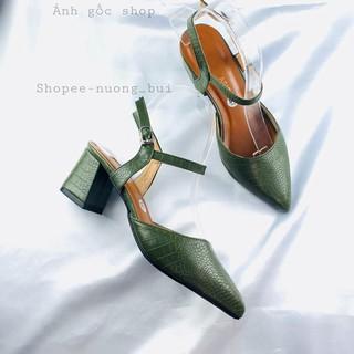 Giày nữ cao gót vẩy cá mẫu mới nhất cao 5p - Bb18