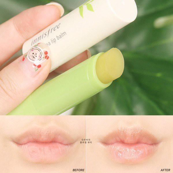 Son dưỡng mật ong/ trà xanh Innisfree Canola Honey/ Green Tea Lip Balm